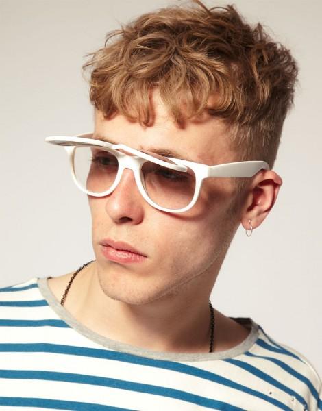 新潮復古掀鏡式造型款 by Quay Eyewear with Library Brass Smith工匠系列眼鏡鍊