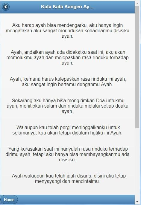 Kata Kata Kangen Ayah Dan Ibu Android تطبيقات Appagg
