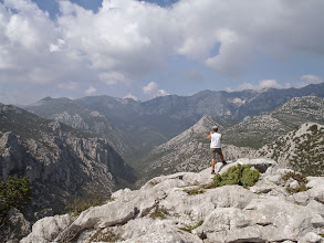 Photo: Jérémy enjoying the view on National Park Paklenica