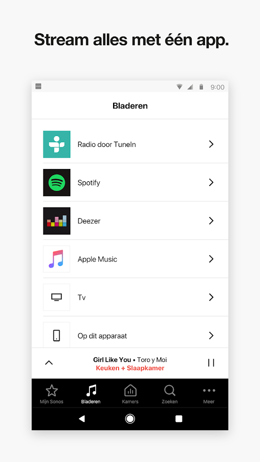 Sonos Controller for Android: screenshot