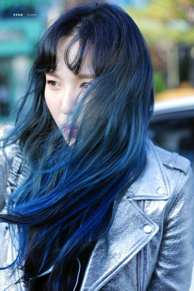 10 Idols Who Absolutely Crushed The Blue Hair Look Koreaboo