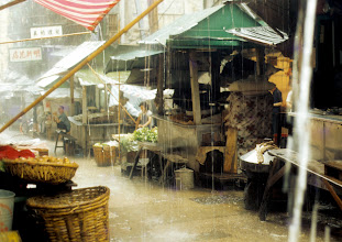 Photo: Typical monsoon downpour on typical shopping street.