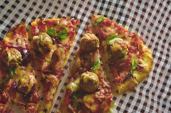 Pizza Essentials:  Sausage Ball Pizza On Flatbread Recipe