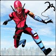 Flying Robot Ninja Rope Hero: Gangster Crime City