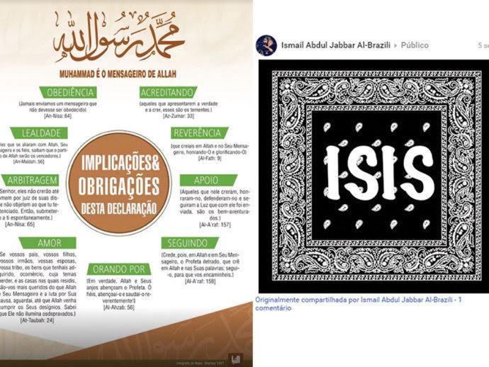 NO RADAR - Os terroristas criaram um canal de comunicação na internet que seria coordenado por um brasileiro e tem sido usado pelo Estado Islâmico para recrutar novos militantes jihadistas