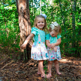 Sisters in the Woods by Kellie Jones - Babies & Children Children Candids