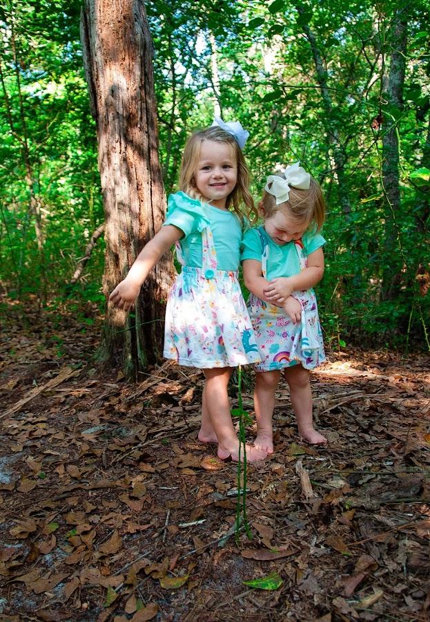 Sisters in the Woods by Kellie Jones - Babies & Children Children Candids