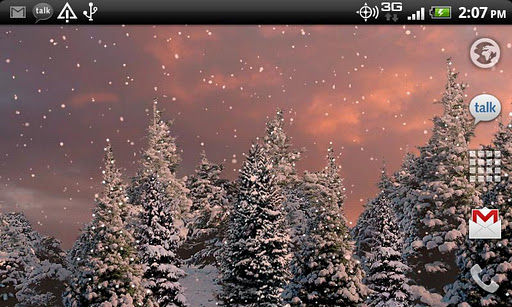Snowfall Live Wallpaper screenshot 5