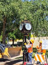 Photo: It reached 114ºF on July 24, 2014, when Team Fishel installed the Scottsdale Rotary Clock at the City of Scottsdale Civic Center Mall - Arizona