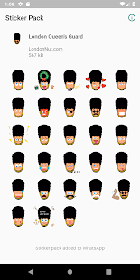 London Guard Stickers (for WhatsApp) Screenshot