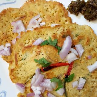 Spicy & Savoury Chickpea Flour Pancakes