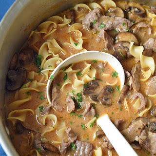 One-Pot Beef Stroganoff Soup.
