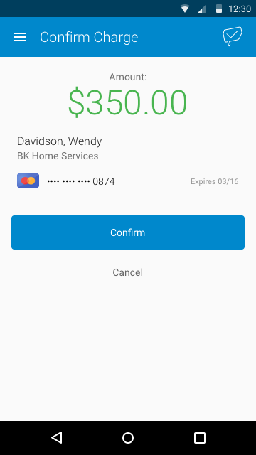 PaySimple Mobile- screenshot
