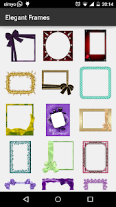 Elegant photo Frames screenshot 1