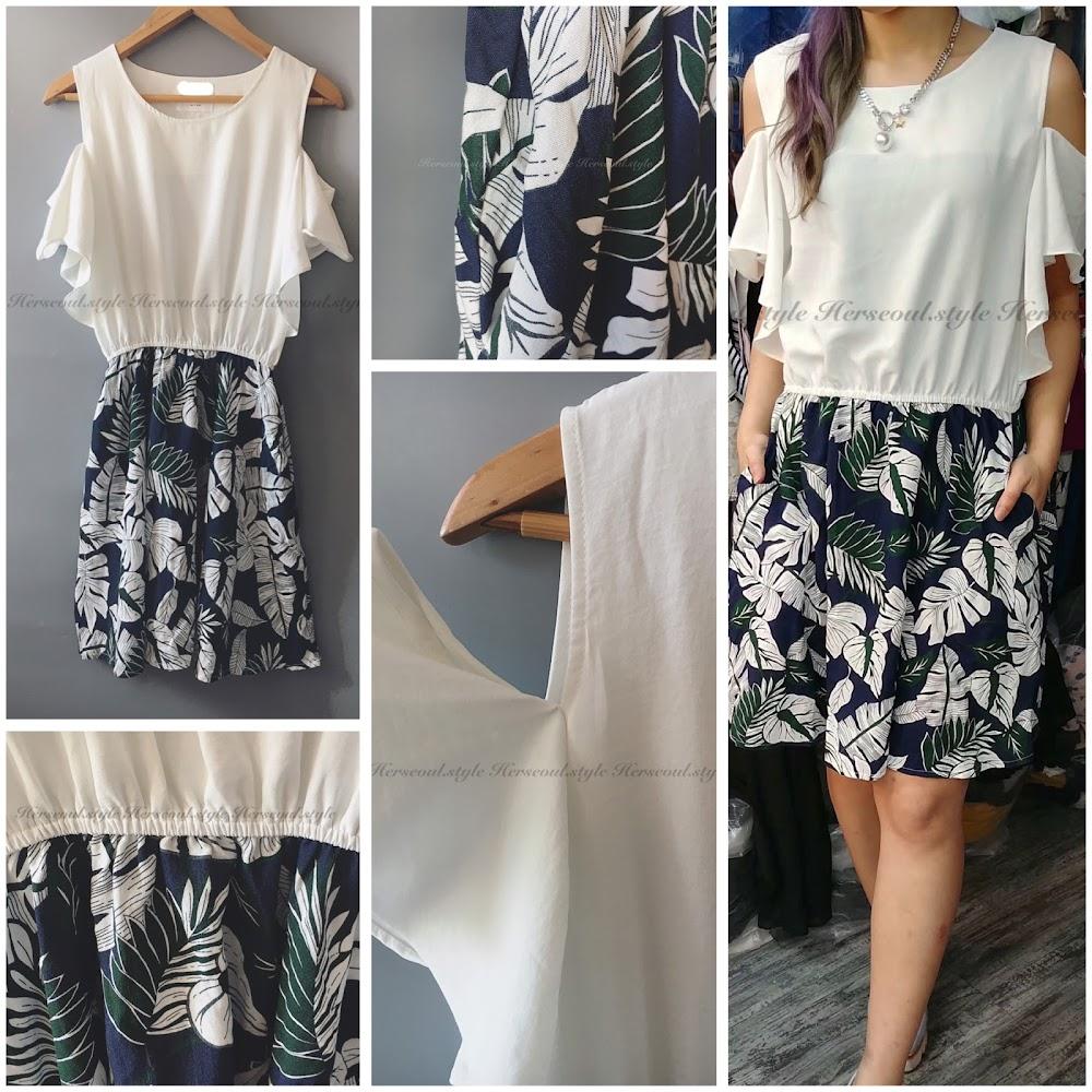 🍃樹葉圖案連身裙🍃