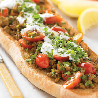 Spicy Lamb Flatbreads with Yogurt