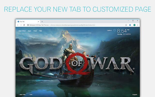God Of War 4 Wallpaper Hd Custom New Tab Google Chrome