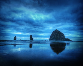 Photo: The Oregon Coast  Today's photo comes from Cannon Beach, Oregon. If you click through to the blog post below, you can see a brand-new video I made while taking this shot, explaining my thoughts on composition while I take the shot.  http://www.stuckincustoms.com/2011/08/31/the-oregon-coast/  - Trey Ratcliff, from the blog at stuckincustoms.com