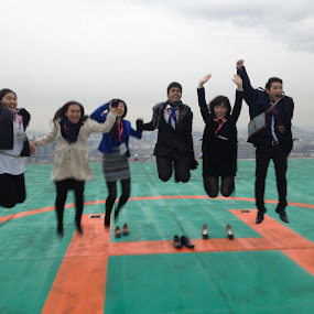 happy..:) by Harshit Bansal - People Group/Corporate ( office, corporate, helipad, fun, jump )