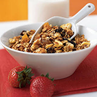 Three-Grain Breakfast Cereal with Walnuts and Dried Fruit.