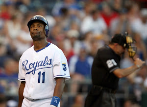 Photo: Kansas City Royals left fielder Jose Guillen (11) reacts after striking out in the fourth inning against the Chicago White Sox on Thursday, July 10, 2008, at Kauffman Stadium in Kansas City, Missouri. The Royals won 4-1. (Allison Long/Kansas City Star/MCT)