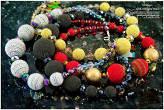 Photo: Necklaces with Crocheted Beads - Намиста з в'язаними намистинами