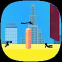 stickman parkour runner platform icon