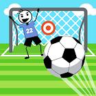 Stickman Fútbol Penales Shootout Juego icon