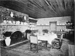 Photo: 1903 the dining room from the same house as the previous picture.