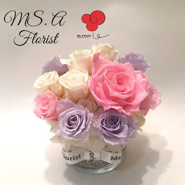 Flower in Glass X Ms. A Florist