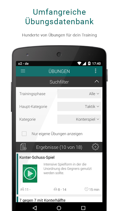 Fußball Training & Übungen – Screenshot