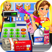 Dollar Store Cash Register Sim & Grocery Shopping