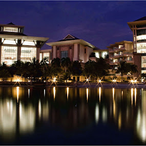 Empire Hotel and Country Club by Muhammad Muqri - Buildings & Architecture Office Buildings & Hotels ( building, reflection, hotel, landscape, slow shutter )