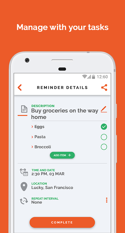 Letz: Tasks reminder app- screenshot