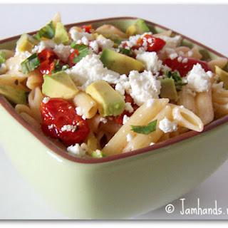 Goat Cheese, Avocado and Slow Roasted Tomato Penne