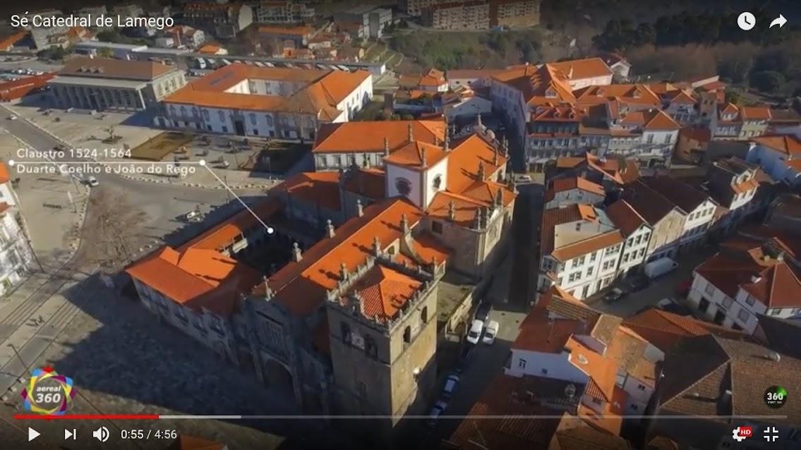 Vídeo - Vista aérea da Sé Catedral de Lamego