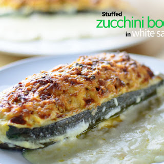 Stuffed Zucchini With Bechamel Sauce