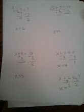 Photo: Kaleya learning algebra! The 1st grade version that is :-)
