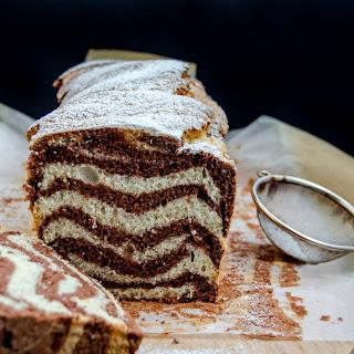 {Marbled Loaf Cake}- Chec marmorat