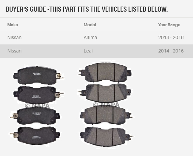 Electric car or conventional car, same brake pads.