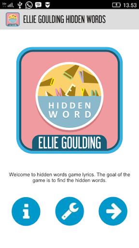 Ellie Goulding Hidden Words