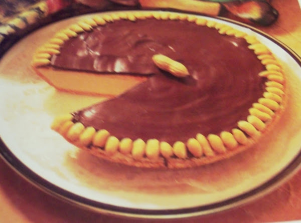 Chocolate Topped Peanut Butter Refrigerator Pie Recipe