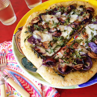 Purple Potato & Pesto Pizza