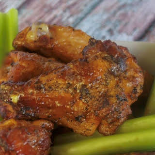 Smoked BBQ Chicken Wings.