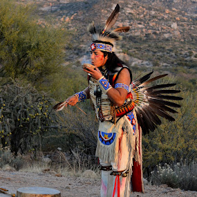 The Chief by Rita Taylor - People Musicians & Entertainers ( smudge, southwest, chief, dancer )