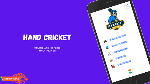 Hand Cricket - Online Multiplayer - Odd or Even android2mod screenshots 1