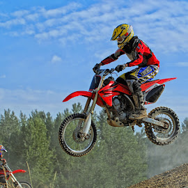 Getting Some Air by Twin Wranglers Baker - Sports & Fitness Motorsports ( motor cross racing, motor cross, dirt bike racing, dirt bike, motor-cross,  )