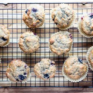 Banana Blueberry Spelt Muffins.