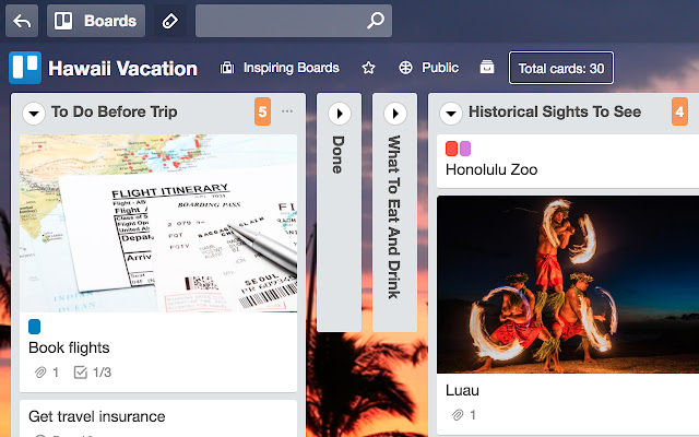 Collapsible Trello Lists