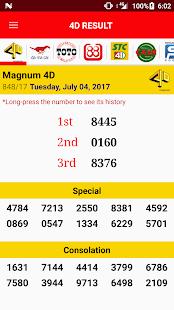 4D Result 2017 - náhled
